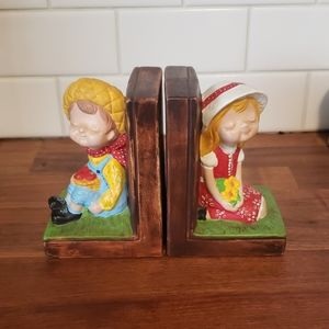 Handmade vintage bookends